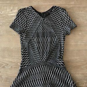BCBG MaxAzria Geometric print drop waist dress